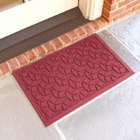 Weather Guard™ Ellipse 18-Inch x 28-Inch Door Mat in Red/Black