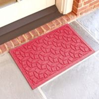 Weather Guard™ Ellipse 18-Inch x 28-Inch Door Mat in Solid Red