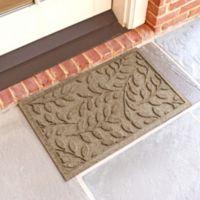Weather Guard™ Brittney Leaf 18-Inch x 28-Inch Door Mat in Camel