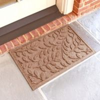 Weather Guard™ Brittney Leaf 18-Inch x 28-Inch Door Mat in Medium Brown