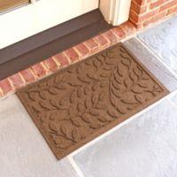 Weather Guard™ Brittney Leaf 18-Inch x 28-Inch Door Mat in Dark Brown
