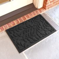 Weather Guard™ Brittney Leaf 18-Inch x 28-Inch Door Mat in Charcoal