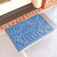 Weather Guard™ Brittney Leaf 18-Inch x 28-Inch Door Mat in Medium Blue