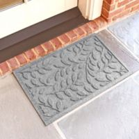 Weather Guard™ Brittney Leaf 18-Inch x 28-Inch Door Mat in Medium Grey