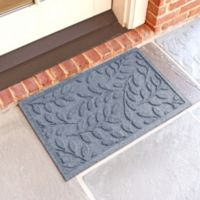 Weather Guard™ Brittney Leaf 18-Inch x 28-Inch Door Mat in Bluestone