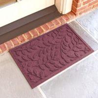 Weather Guard™ Brittney Leaf 18-Inch x 28-Inch Door Mat in Bordeaux