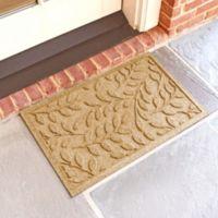 Weather Guard™ Brittney Leaf 18-Inch x 28-Inch Door Mat in Gold