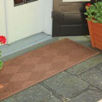 Weather Guard™ Diamonds 22-Inch x 60-Inch Door Mat in Dark Brown