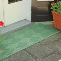 Weather Guard™ Diamonds 22-Inch x 60-Inch Door Mat in Light Green