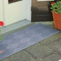 Weather Guard™ Diamonds 22-inch x60-inch Door Mat in Bluestone