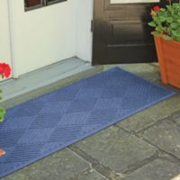 Weather Guard™ Diamonds 22-Inch x 60-Inch Door Mat in Navy