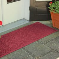 Weather Guard™ Boxwood 22-Inch x 60-Inch Door Mat in Red/Black