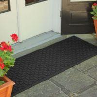 Weather Guard™ Ellipse 22-Inch x 60-Inch Door Mat in Charcoal