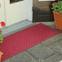 Weather Guard™ Ellipse 22-Inch x 60-Inch Door Mat in Red/Black