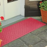 Weather Guard™ Ellipse 22-Inch x 60-Inch Door Mat in Solid Red