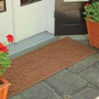 Weather Guard™ Brittney Leaf 22-Inch x 60-Inch Door Mat in Dark Brown