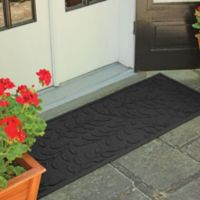 Weather Guard™ Brittney Leaf 22-Inch x 60-Inch Door Mat in Charcoal