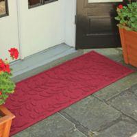 Weather Guard™ Brittney Leaf 22-Inch x 60-Inch Door Mat in Red/Black