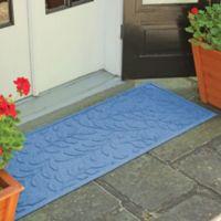 Weather Guard™ Brittney Leaf 22-Inch x 60-Inch Door Mat in Medium Blue