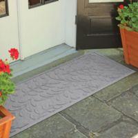 Weather Guard™ Brittney Leaf 22-Inch x 60-Inch Door Mat in Medium Grey