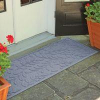 Weather Guard™ Brittney Leaf 22-Inch x 60-Inch Door Mat in Bluestone