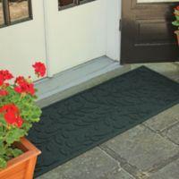 Weather Guard™ Brittney Leaf 22-Inch x 60-Inch Door Mat in Evergreen