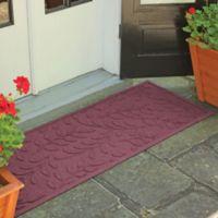 Weather Guard™ Brittney Leaf 22-Inch x 60-Inch Door Mat in Bordeaux