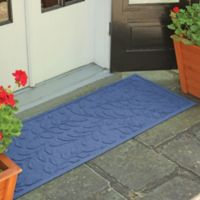 Weather Guard™ Brittney Leaf 22-Inch x 60-Inch Door Mat in Navy