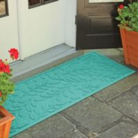 Weather Guard™ Brittney Leaf 22-Inch x 60-Inch Door Mat in Aquamarine