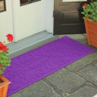 Weather Guard™ Brittney Leaf 22-Inch x 60-Inch Door Mat in Purple
