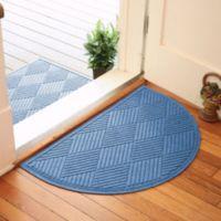 Weather Guard™ Diamonds 24-Inch x 39-Inch Half Oval Door Mat in Medium Blue