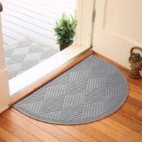 Weather Guard™ Diamonds 24-Inch x 39-Inch Half Oval Door Mat in Medium Grey
