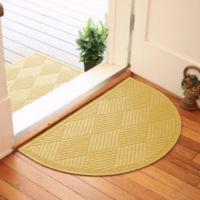 Weather Guard™ Diamonds 24-Inch x 39-Inch Half Oval Door Mat in Yellow