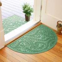 Weather Guard™ Boxwood 24-Inch x 39-Inch Half Oval Door Mat in Light Green