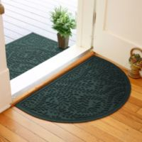 Weather Guard™ Boxwood 24-Inch x 39-Inch Half Oval Door Mat in Evergreen