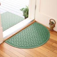 Weather Guard™ Ellipse 24-Inch x 39-Inch Half Oval Door Mat in Light Green