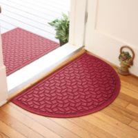 Weather Guard™ Ellipse 24-Inch x 39-Inch Half Oval Door Mat in Red/Black
