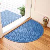 Weather Guard™ Ellipse 24-Inch x 39-Inch Half Oval Door Mat in Medium Blue
