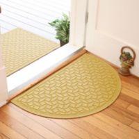 Weather Guard™ Ellipse 24-Inch x 39-Inch Half Oval Door Mat in Yellow