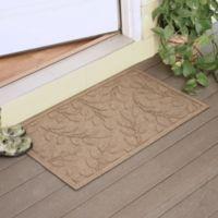 Weather Guard™ Brittney Leaf 23-Inch x 35-Inch Door Mat in Camel