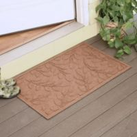 Weather Guard™ Brittney Leaf 23-Inch x 35-Inch Door Mat in Medium Brown