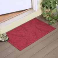 Weather Guard™ Brittney Leaf 23-Inch x 35-Inch Door Mat in Red/Black