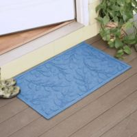Weather Guard™ Brittney Leaf 23-Inch x 35-Inch Door Mat in Medium Blue