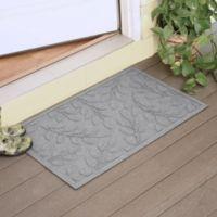 Weather Guard™ Brittney Leaf 23-Inch x 35-Inch Door Mat in Medium Grey