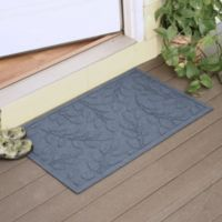 Weather Guard™ Brittney Leaf 23-Inch x 35-Inch Door Mat in Bluestone