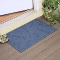 Weather Guard™ Brittney Leaf 23-Inch x 35-Inch Door Mat in Navy