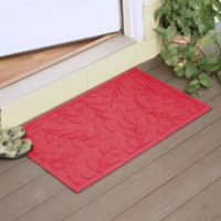 Weather Guard™ Brittney Leaf 23-Inch x 35-Inch Door Mat in Solid Red