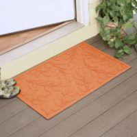 Weather Guard™ Brittney Leaf 23-Inch x 35-Inch Door Mat in Orange