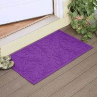 Weather Guard™ Brittney Leaf 23-Inch x 35-Inch Door Mat in Purple