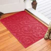 Weather Guard™ Boxwood 30-Inch x 45-Inch Door Mat in Solid Red